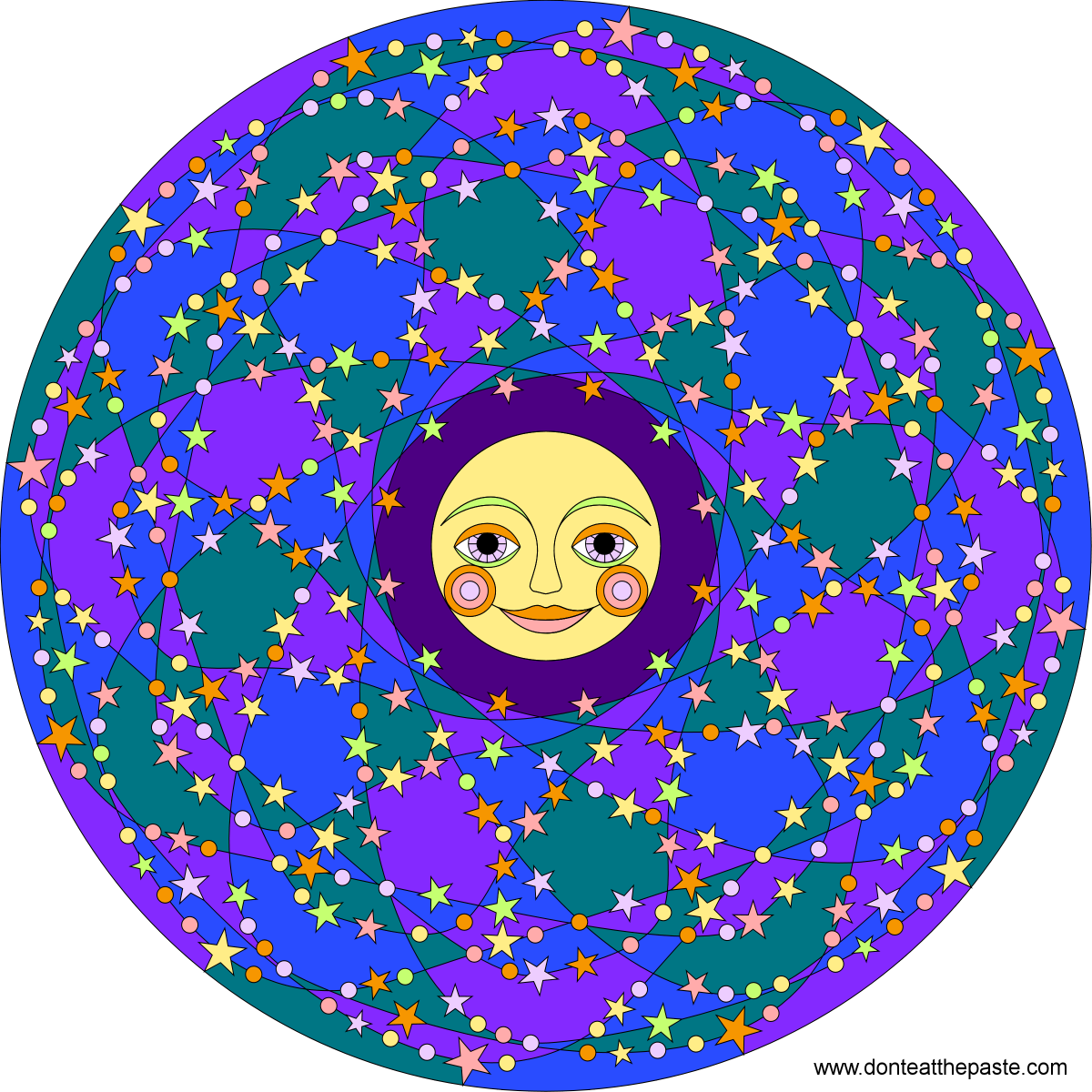 Stars and moon mandala