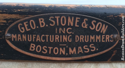 Geo. B. Stone & Son Drum Badge