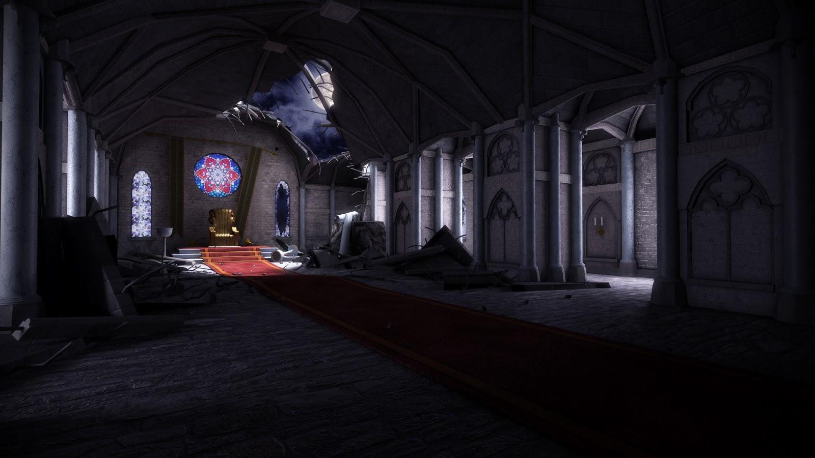nattakorn wongsathitdee nat 3d  dark castle scene renders