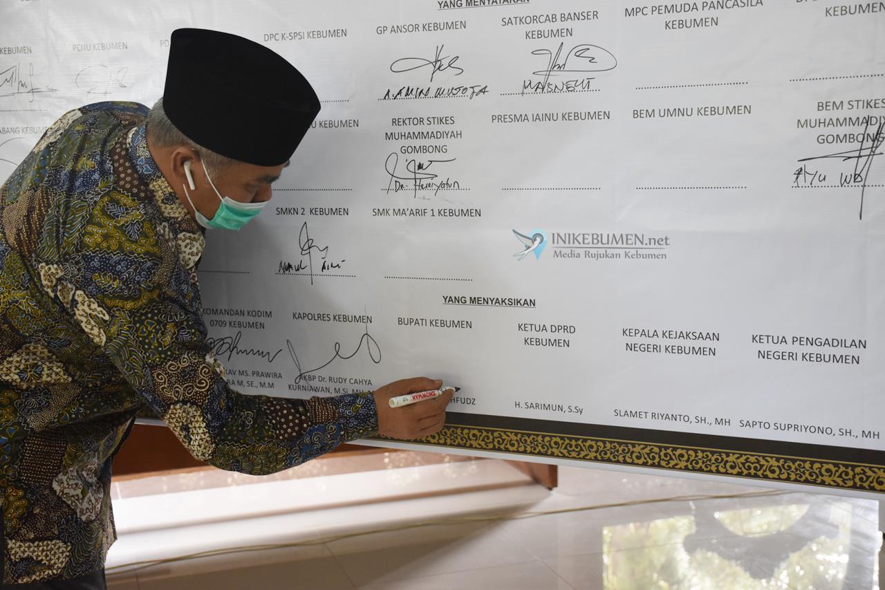 Pimpinan DPRD Kebumen Tak Hadir di Deklarasi Damai Tolak Unras Anarkis