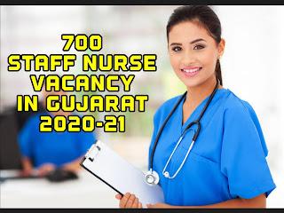 700 staff nurse vacancy in gujarat 2020