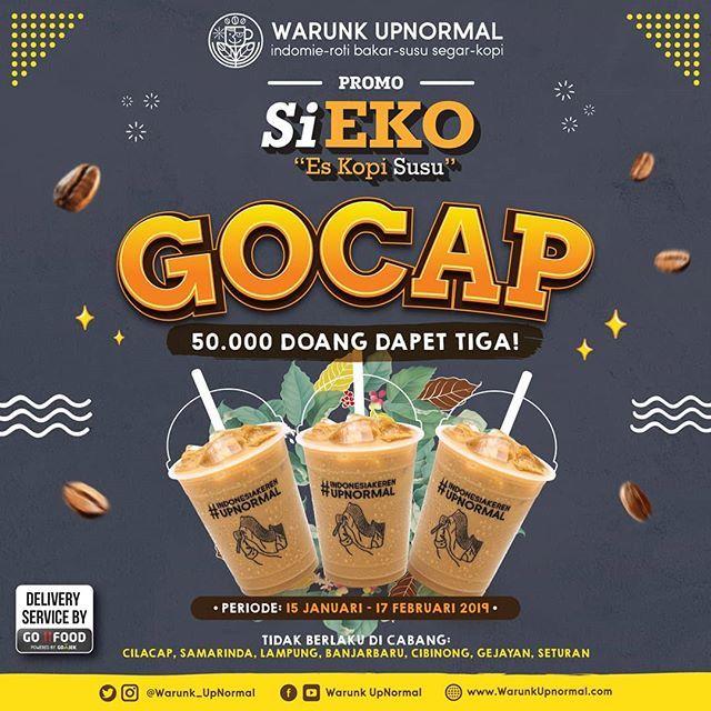 #WarungUpnormal - #Promo GOCAP Dapat 3 Si Eko (Es Kopi Susu) Fresh & Creamy