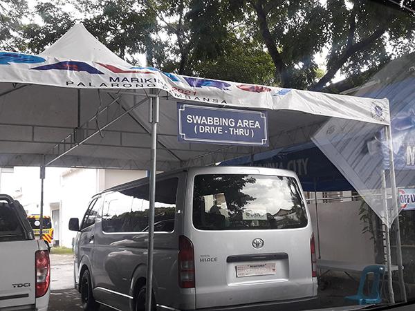 swabbing area at Marikina Hotel