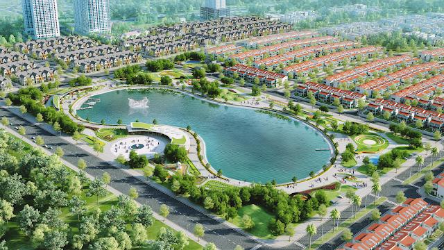 không gian xanh của dự án Biệt Thự Dương Nội