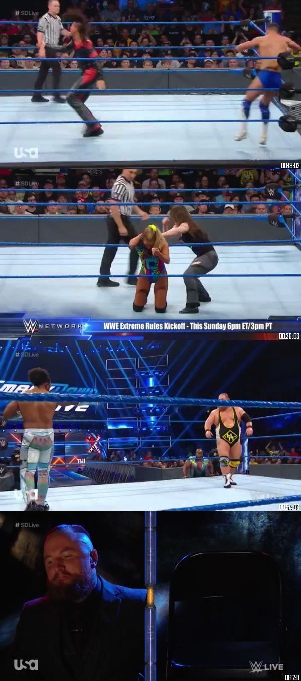 Screen Shoot of WWE Smackdown Live 09 July 2019 HDTV 480p 300MB