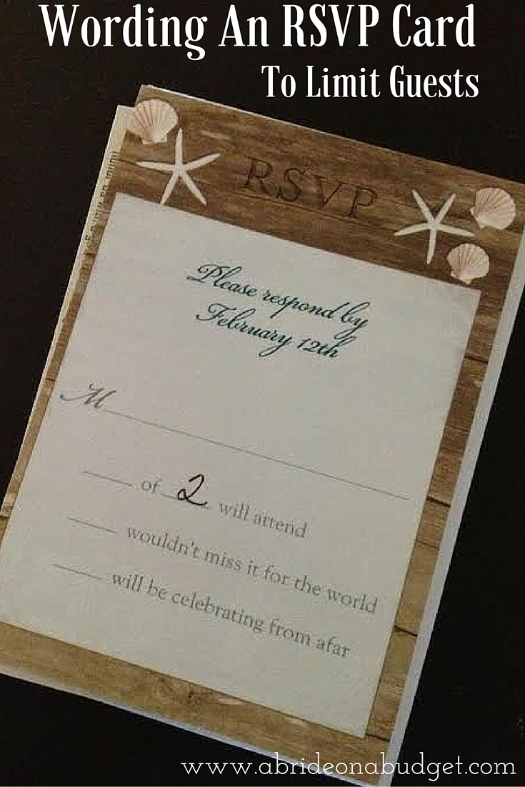 RSVP Cards Can Get Confusing For Couples Especially If Youre Worried About People