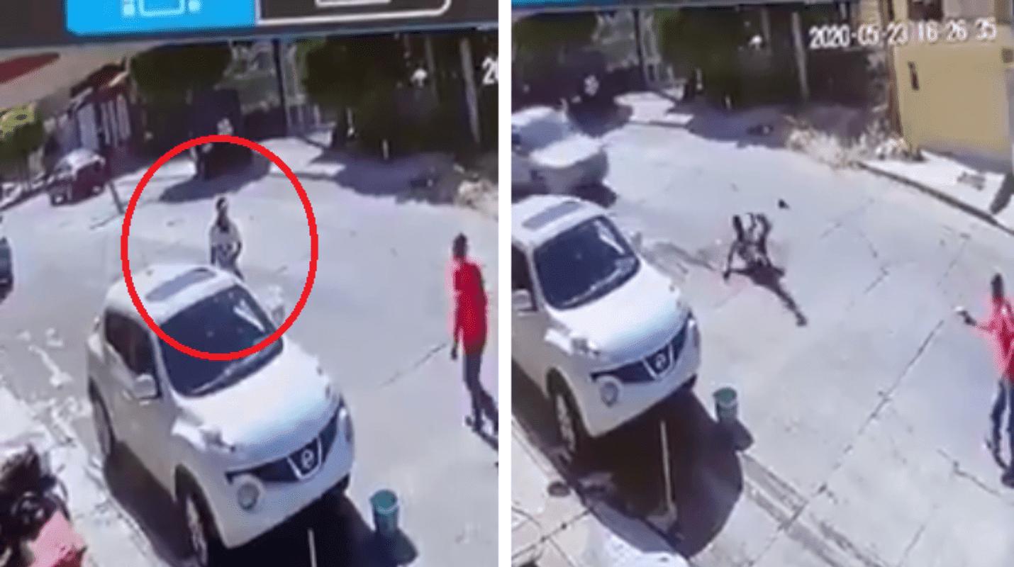 Ocurrió en Tijuana; Sicario le dispara y luego otro le pasa el auto por encima