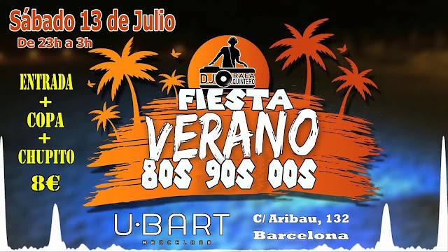 Flyer Fiesta Verano 80s 90s 00s