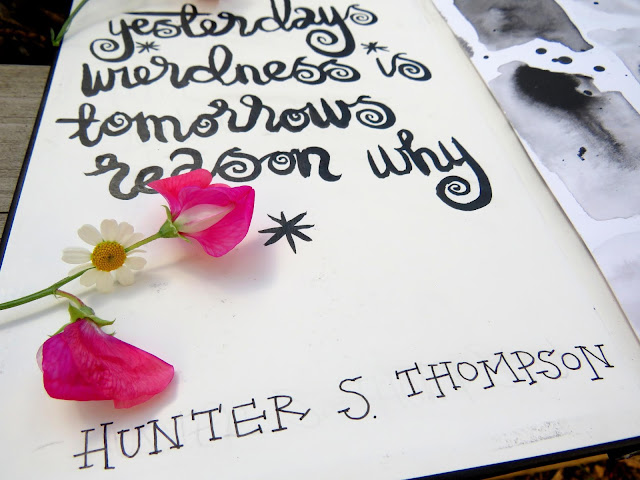 hunter s thompson bullet journal title page