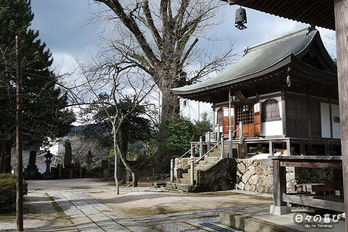 vue depuis l'allée du cimetière, au temple daijo-ji
