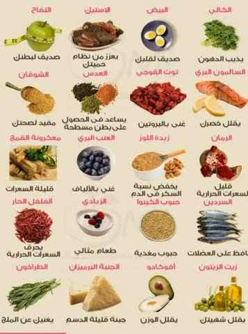 مكونات النظام الغذائي الصحي اليومي
