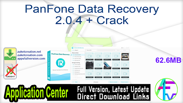 PanFone Data Recovery 2.0.4 + Crack