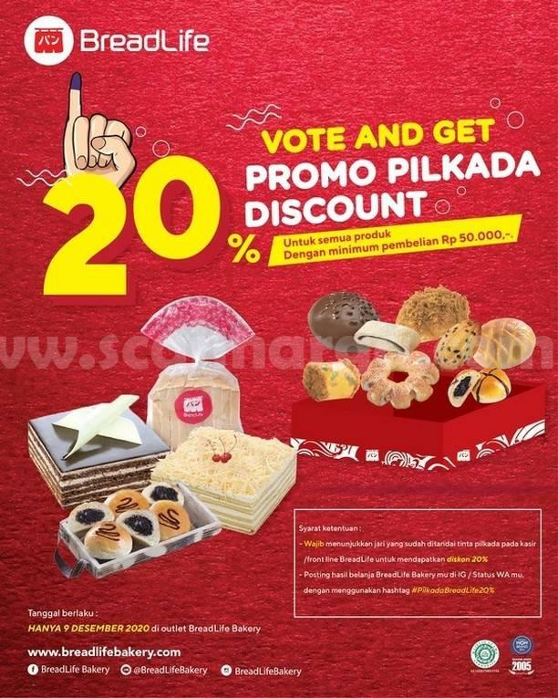 Promo BREADLIFE PILKADA - Diskon 20% Semua Produk
