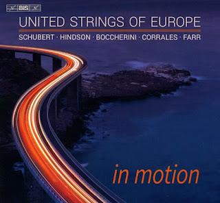 In Motion - Schubert, Hindson, Boccherini, Corrales, Farr; United Strings of Europe, Amalia Hall, Julian Azkoul; BIS