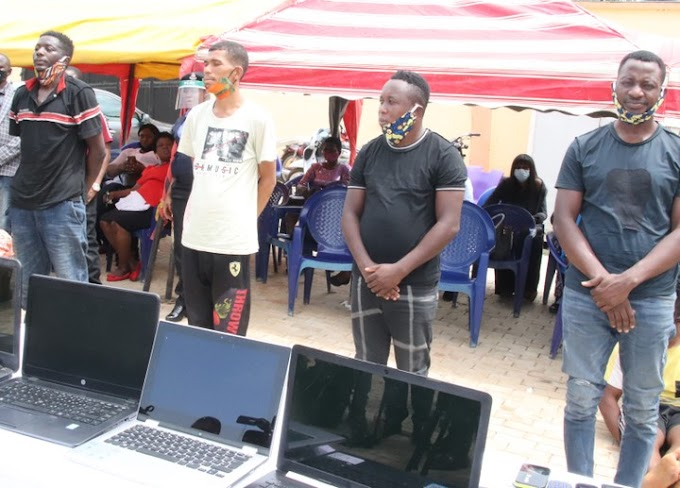 Police Parade 24 Cyber-crime Suspects Including One Female (photos)
