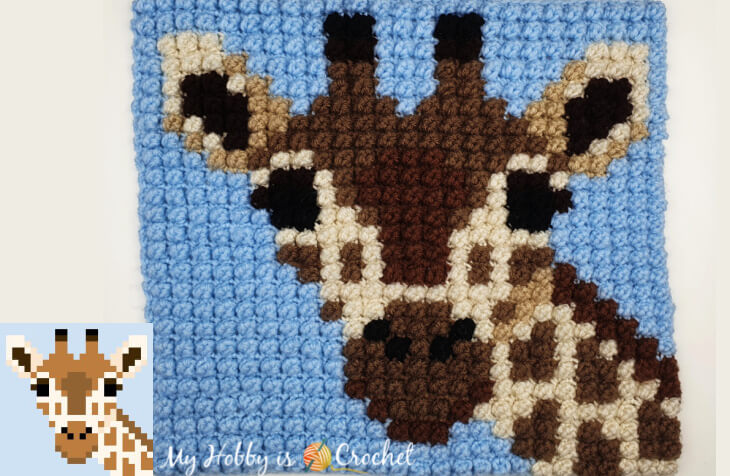 How to Crochet Graphs with the Bobble Single Crochet Stitch + Giraffe Graph +Video Tutorial