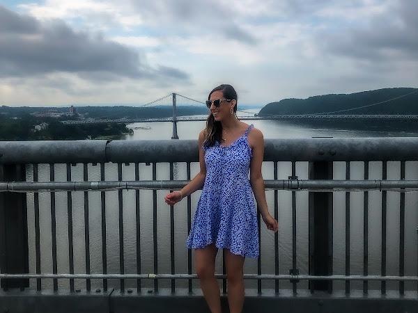 Walkway over the Hudson/ Polka Dot Boho Dress