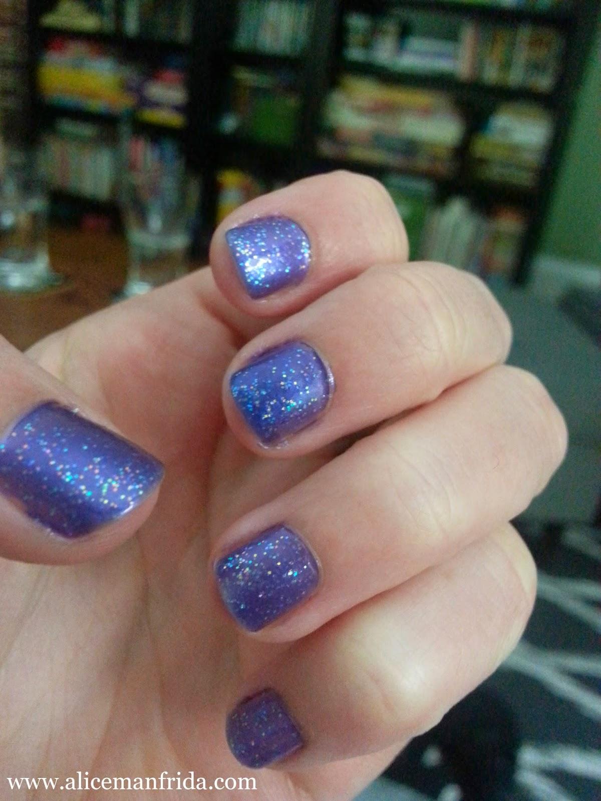 SinfulColors, WetnWild, nailpolish, purple, glitter, hallucinate, Fiji,nails, manicure, AliceManfrida, Alice Manfrida