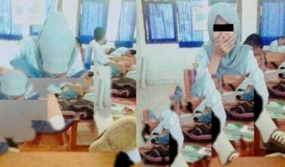 "Lihatlah Foto Pelajar ABG Yang Berjilbab ini, Membuat Netizen Pada""GERAM"""