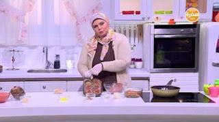 طريقة عمل خبز محشي بالدجاج مع نجلاء الشرشابي في علي قد الأيد