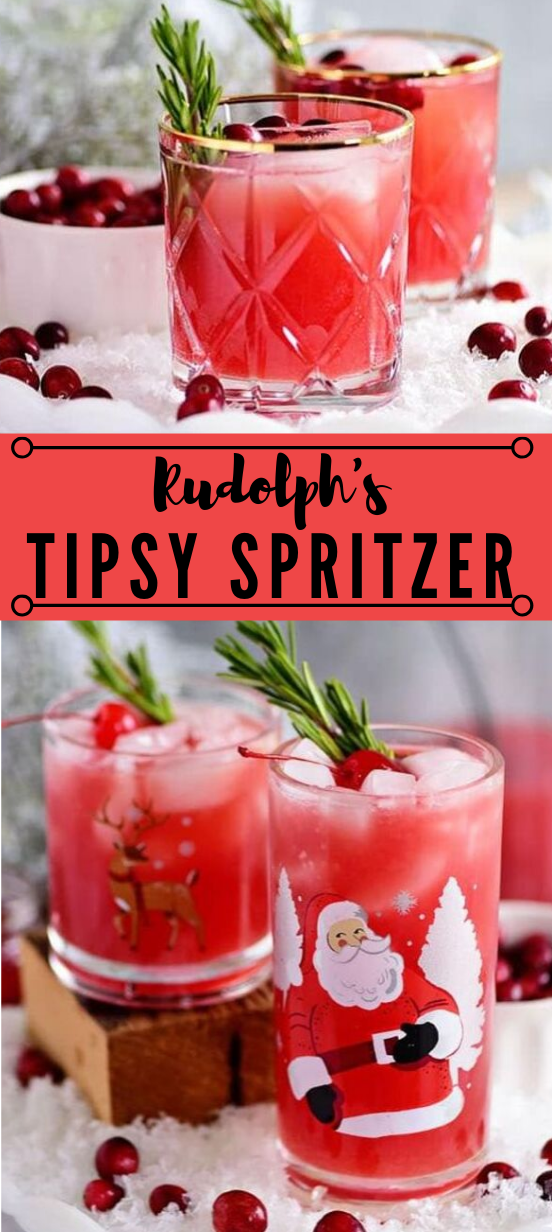 RUDOLPH'S TIPSY SPRITZER #drink #party #cocktail #smoothie #sangria