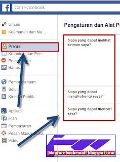 mengatur privasi agar teman atau orang tidak melihat nama kita di pencarian facebook