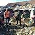 Koramil dan Polsek Manggelewa Kompak Bersihkan Pasar Tradisional Soriutu