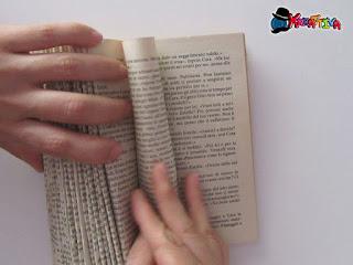 piegare le pagine del libro