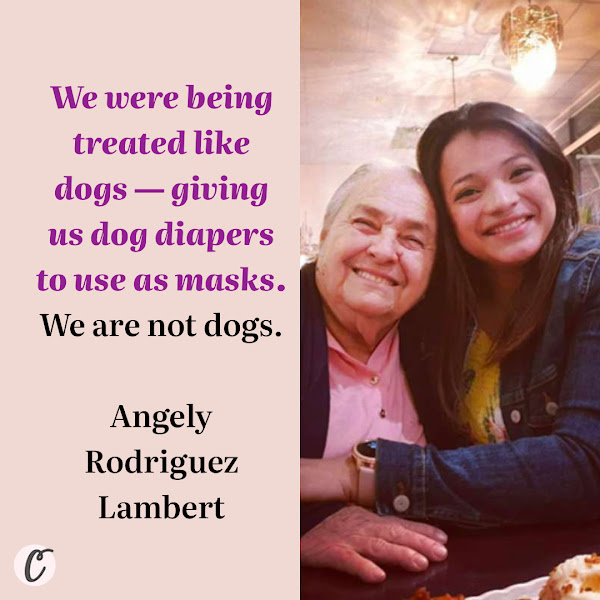 We were being treated like dogs — giving us dog diapers to use as masks. We are not dogs. — Angely Rodriguez Lambert, a former worker at a McDonald's restaurant in Oakland, Calif.
