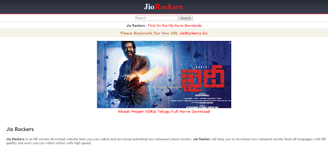 JioRockers Telugu Movies Download Website