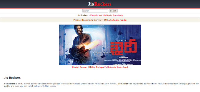 JioRockers Telugu Movies Download Website