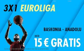 suertia promo euroliga Baskonia vs Anadolu 6 diciembre 2019