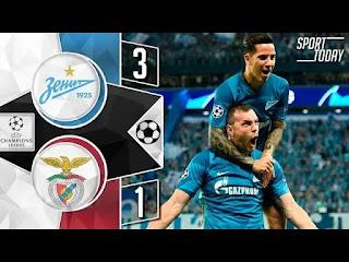 Zenit st. Petersburg vs Benfica 3-1 All Goals And Match Highlights [MP4 & HD VIDEO]