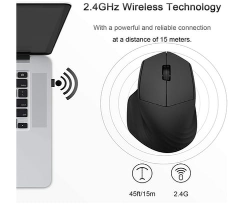 FINFEVER Wireless Cordless Silent Mouse for Laptop