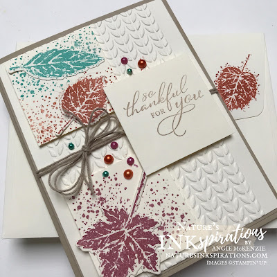 Weekly Digest #36 | Week Ending 2 October 2021 |  Nature's INKspirations by Angie McKenzie for Crafty Collaborations Share it Sunday Blog Hop; Click READ or VISIT to go to my blog for details! Featuring the Gorgeous Leaves Bundle, Pretty Pumpkins Stamp Set and Greenery Embossing Folders by Stampin' Up!; #fallcards #lotsofleaves #leaves #stampinupcolorcoordination #stamping #shareitsunday #shareitsundaybloghop #intricatedleaves #prettypumpkins #gorgeousleaves  #splatters #julydecember2021minicatalog #20212022annualcatalog #naturesinkspirations #makingotherssmileonecreationatatime #cardtechniques #stampinup #stampinupink #handmadecards #papercrafts