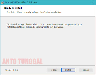 proses installasi virtualbox windows