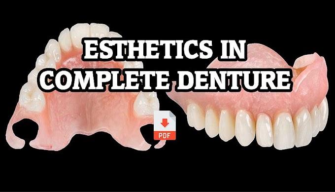 PDF: Esthetics In Complete Denture – A Review