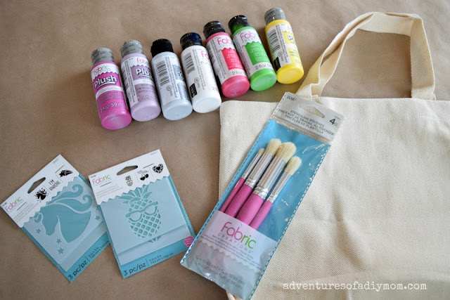 supplies needed for fabric stenciling project