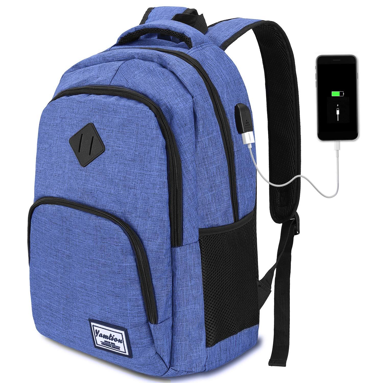 Rucksack für Sport Reise Wandern Schule Freizeit Tasche mit 15,6 Zoll Laptopfach
