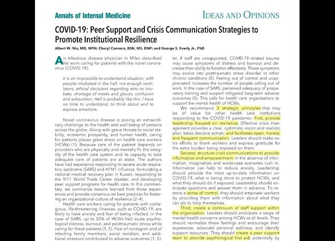 Prácticas para fomentar una cultura organizacional de resiliencia ante la Covid-19 y otras pandemias