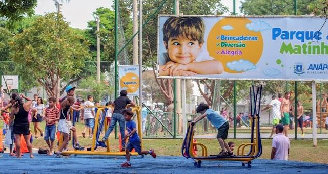 Anápolis: Parque da Matinha recebe milhares de pessoas no Dia das Crianças