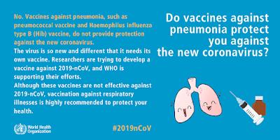 The WHO pneumonia vaccine advice