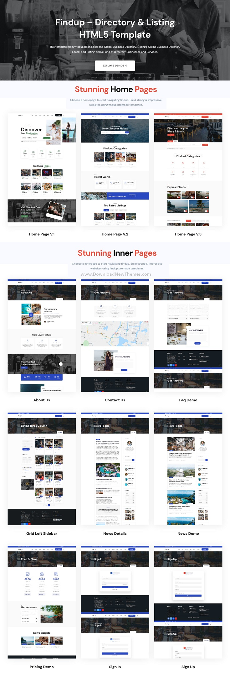 Directory & Listing HTML5 Template