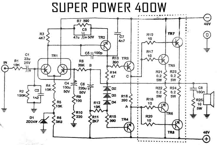 500w power amplifier with 2sc2922 2sa1216