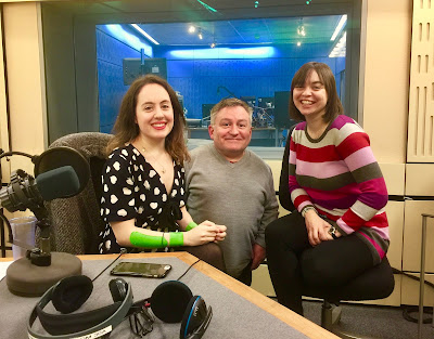 Pic of Natasha Lipman, Simon Minty and Kate Monaghan in BBC Studio