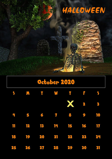 Halloween 2020 Parede Halloween, Free Halloween countdown, Free Halloween calendar 2020