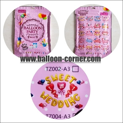 Balon Foil WEDDING SET