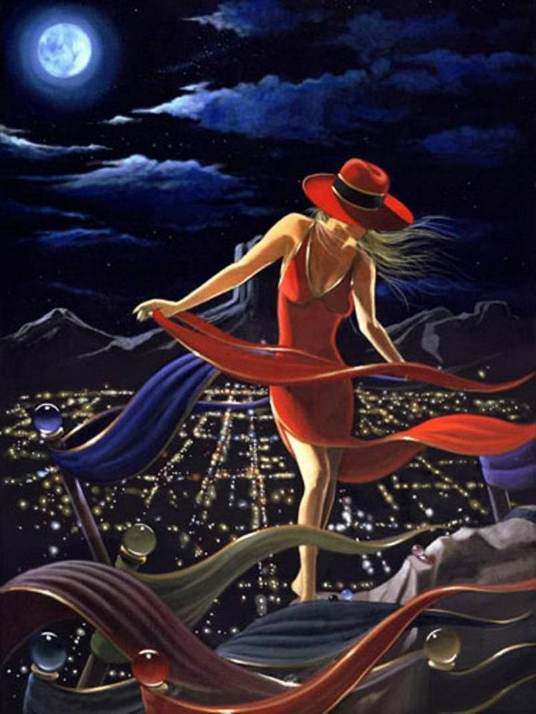 Bienvenidos al nuevo foro de apoyo a Noe #336 / 07.12.16 ~ 23.12.16 Pintura-mujer-con-sombrero-rojo-oleo