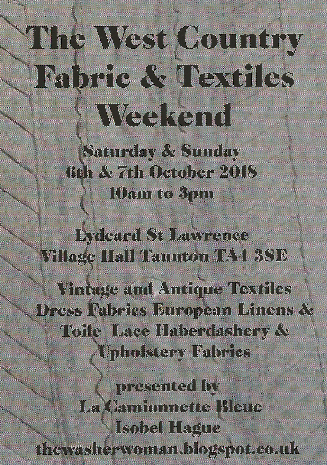 The West Country Fabric and Textiles Weekend