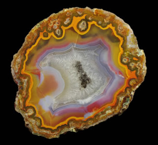 rough agate geode from Brazil